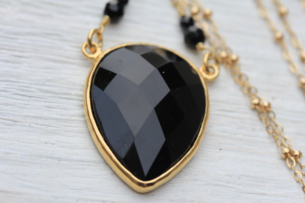 Gold Obsidian Necklace