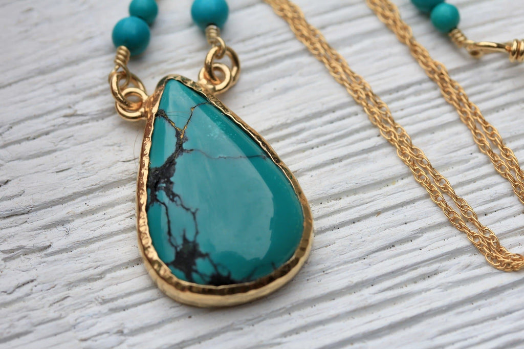 Turquoise Tear Necklace