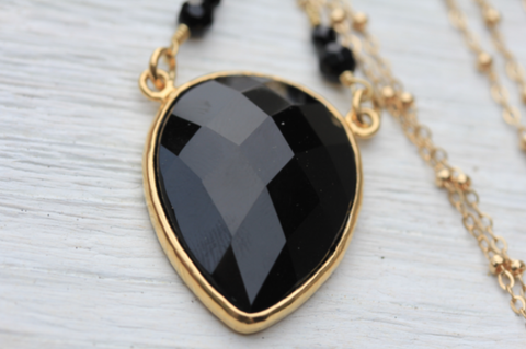 Obsidian Tear Necklace