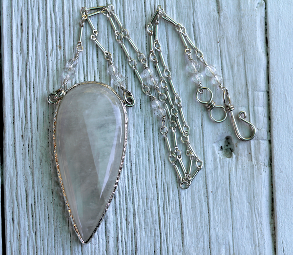 Grand Tear Moonstone Necklace