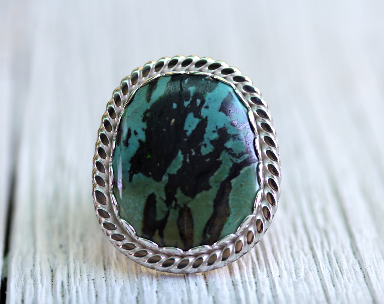 Ancestor Ring :: Silver & Turquoise