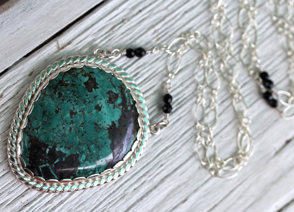 Ancestor Necklace :: Silver & Turquoise