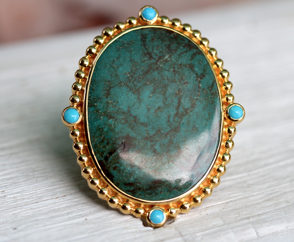 Cycle Ring :: Gold & Turquoise