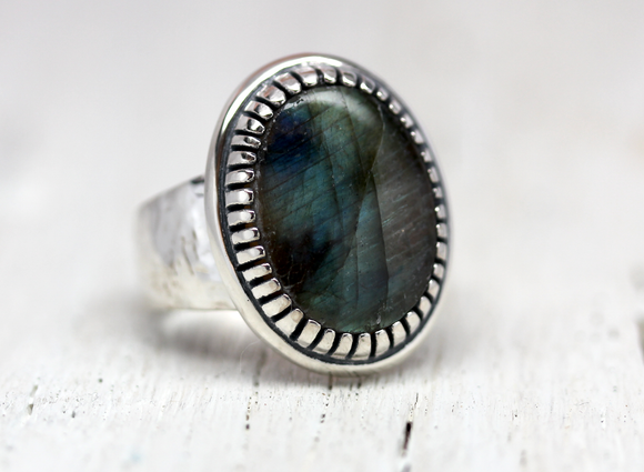 Labradorite Earth Ring
