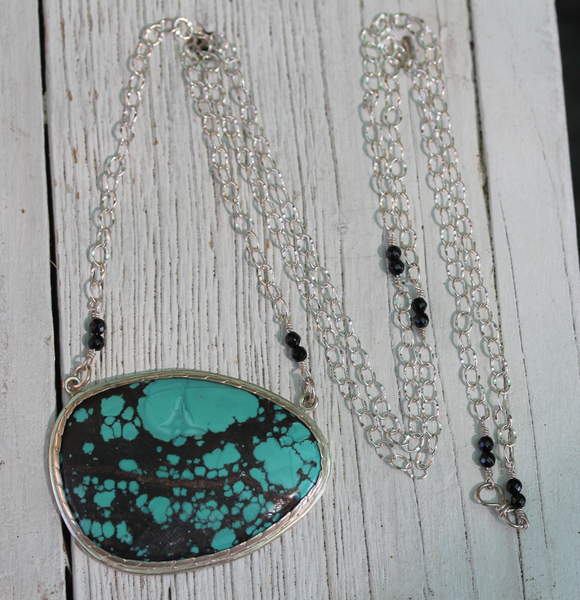 Ancient Wave Necklace :: Silver & Turquoise