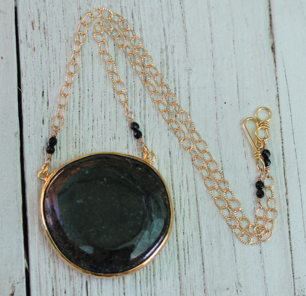 Labradorite Disc Necklace