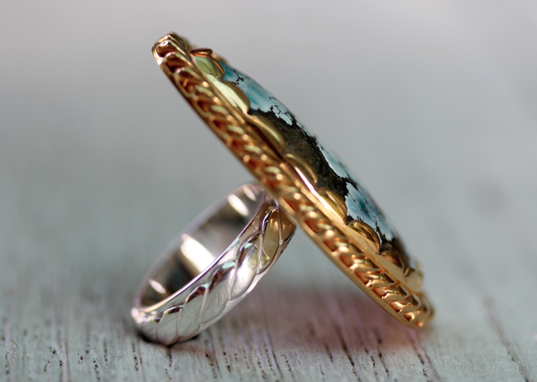 Ancestor Ring :: Gold/Silver & Turquoise