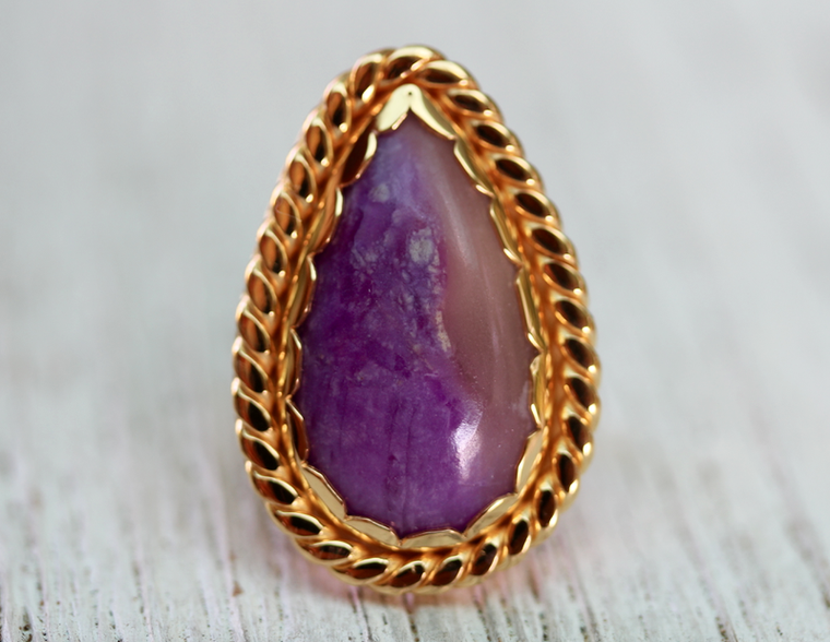 Ancestor Ring :: Gold & Sugilite