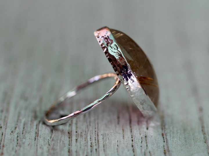 Rutilated Quartz Elfin Ring