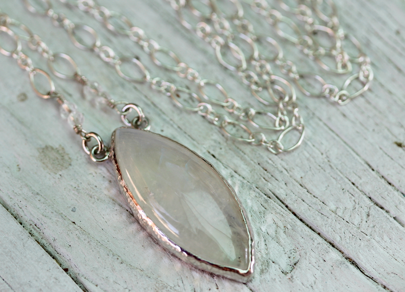 Moonstone Eye Necklace