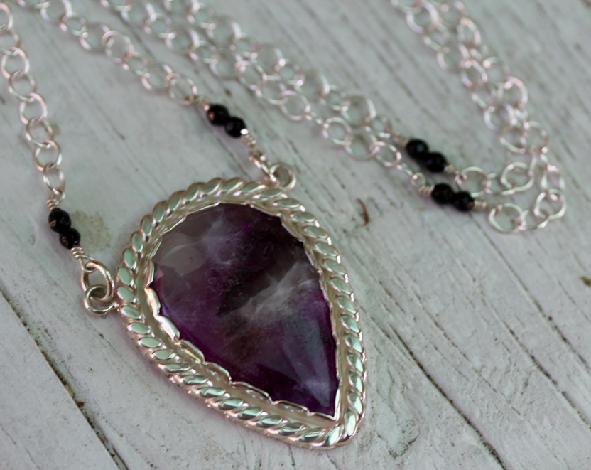 Ancestor Necklace :: Silver & Sugilite