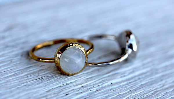 Moonstone Ring Duo