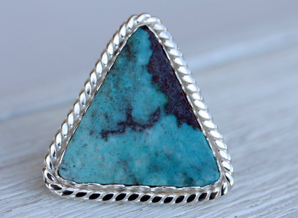 Ancestor Ring :: Silver &  GRAND Turquoise