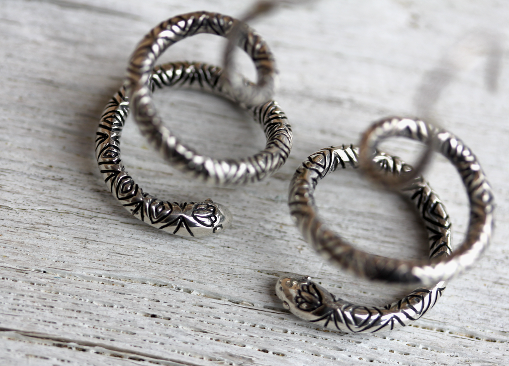 Spiral Snake Earrings