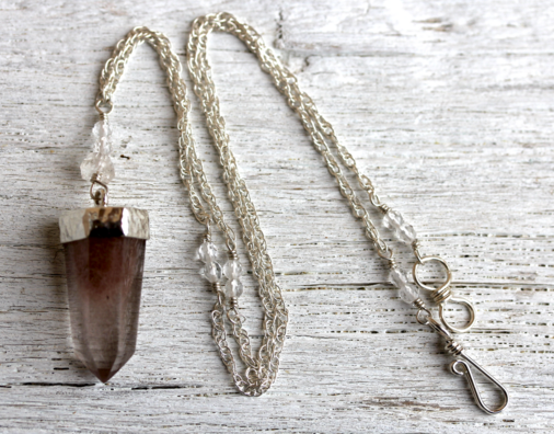 Smoky Quartz Wand Choker