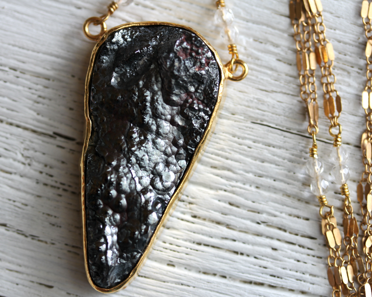 Black Galena Necklace