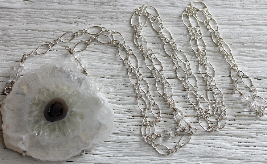 Clear Stalactite Necklace