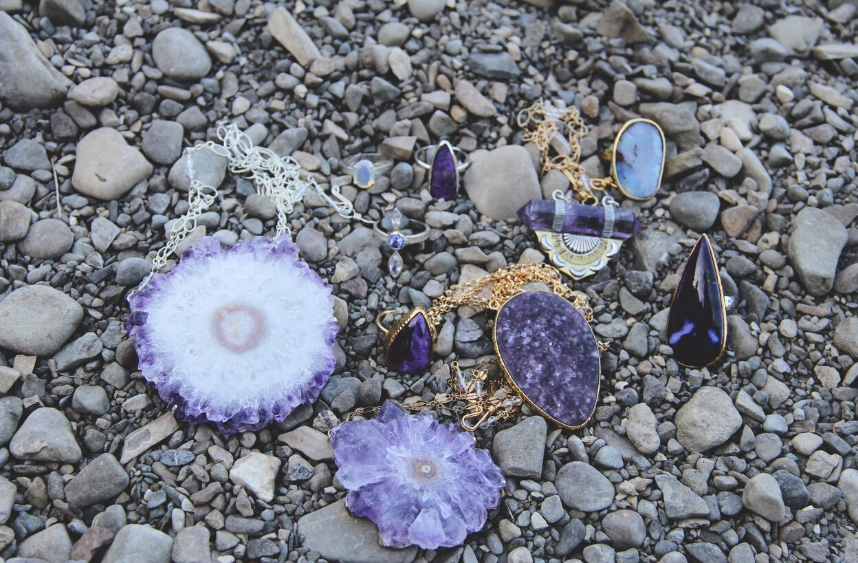Stalactite Amethyst Necklace