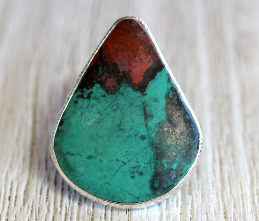 GRAND Sedona Sunrise Chrysocolla Ring