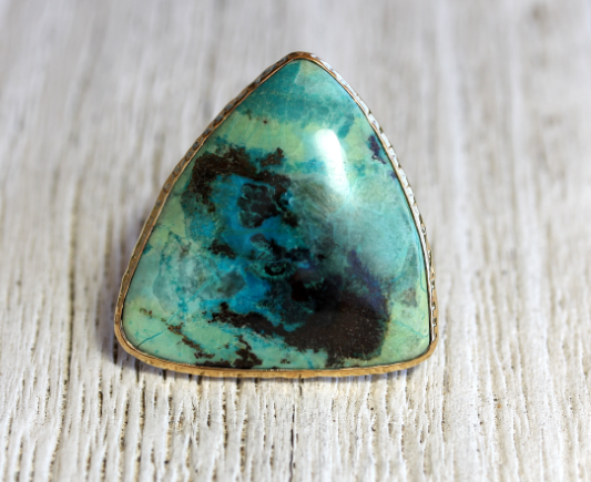 GRAND Cactus Chrysocolla Ring