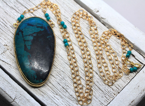 Grand Chrysocolla Necklace