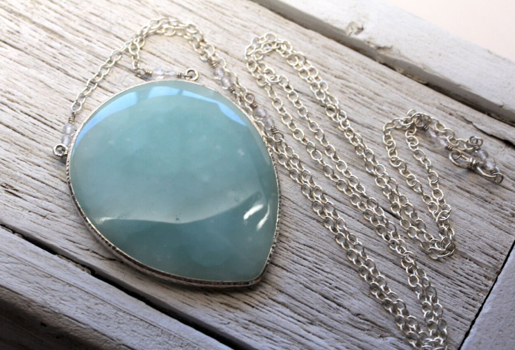 Grand Aquamarine Necklace