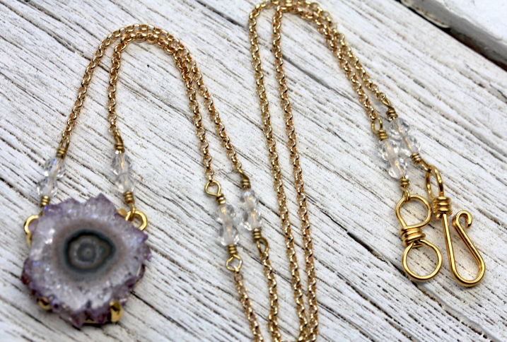 Gold Stalactite Necklace