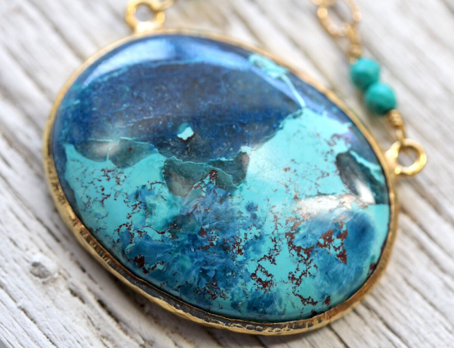 Shattuckite Necklace