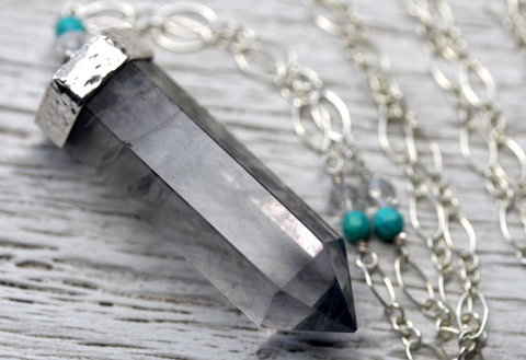 Silver Phantom Wand Necklace