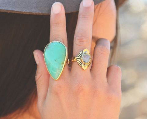 Grand Gold Chrysoprase Ring