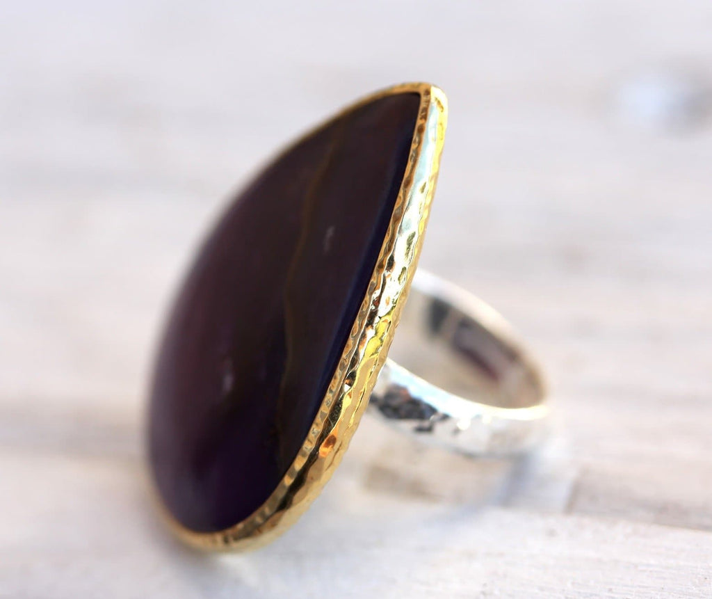 Grand Gold & Silver Sugilite Ring