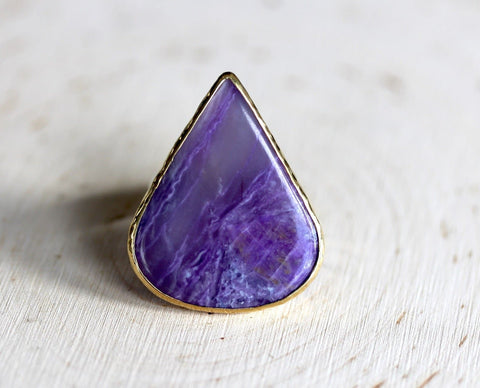 Gold & Silver Sugilite Ring