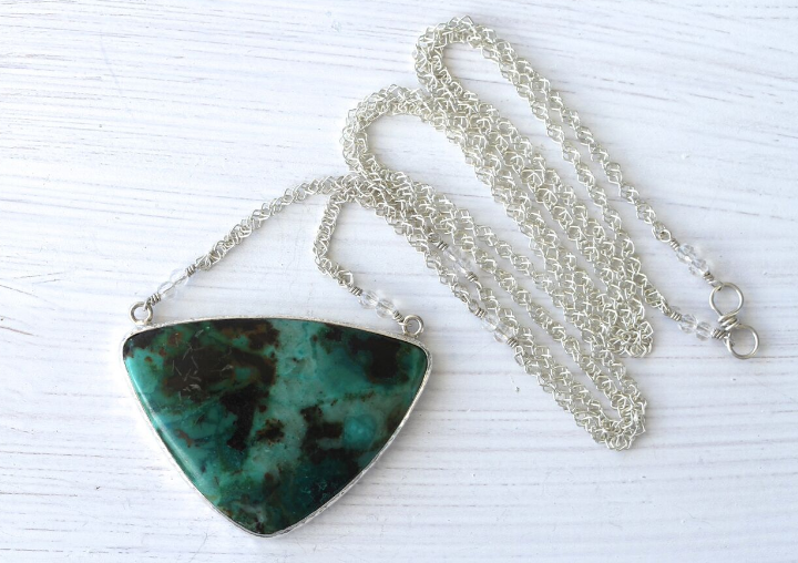 Silver Chrysocolla Necklace