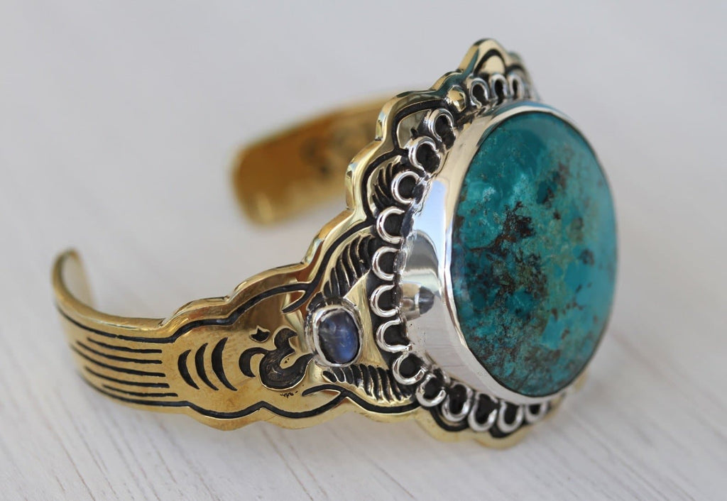 Illuminate Cuff :: Chrysocolla