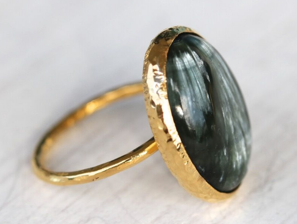 Gold Seraphinite Elfin Ring