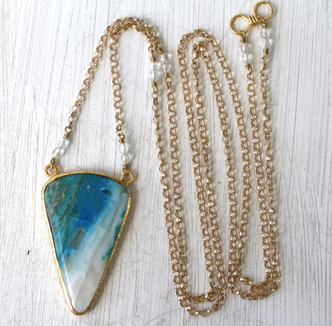 Gold Andean Opal Necklace