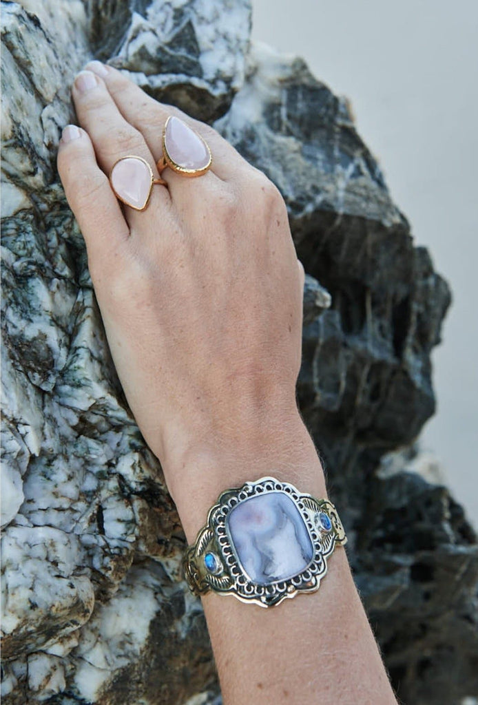 Illuminate Cuff :: Lace Agate
