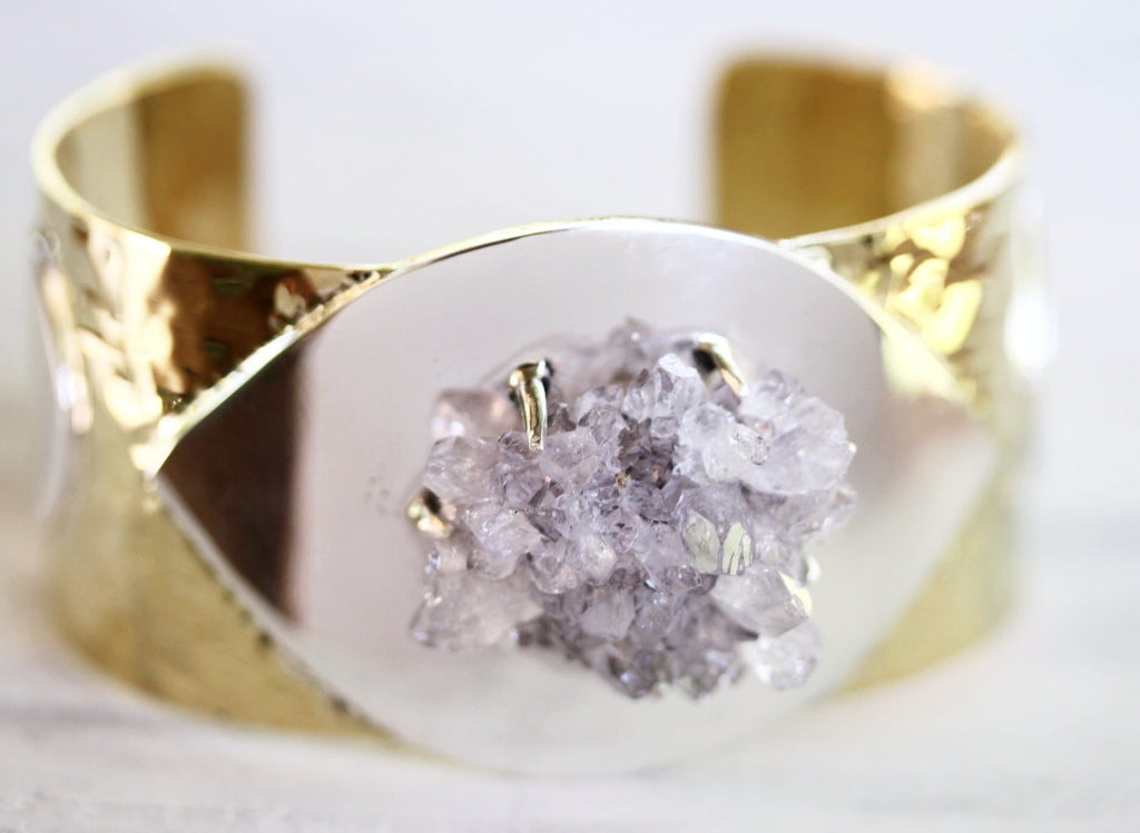 Voyager Cuff: Lilac Crystal