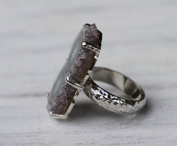 Double Eye Stalactite Ring