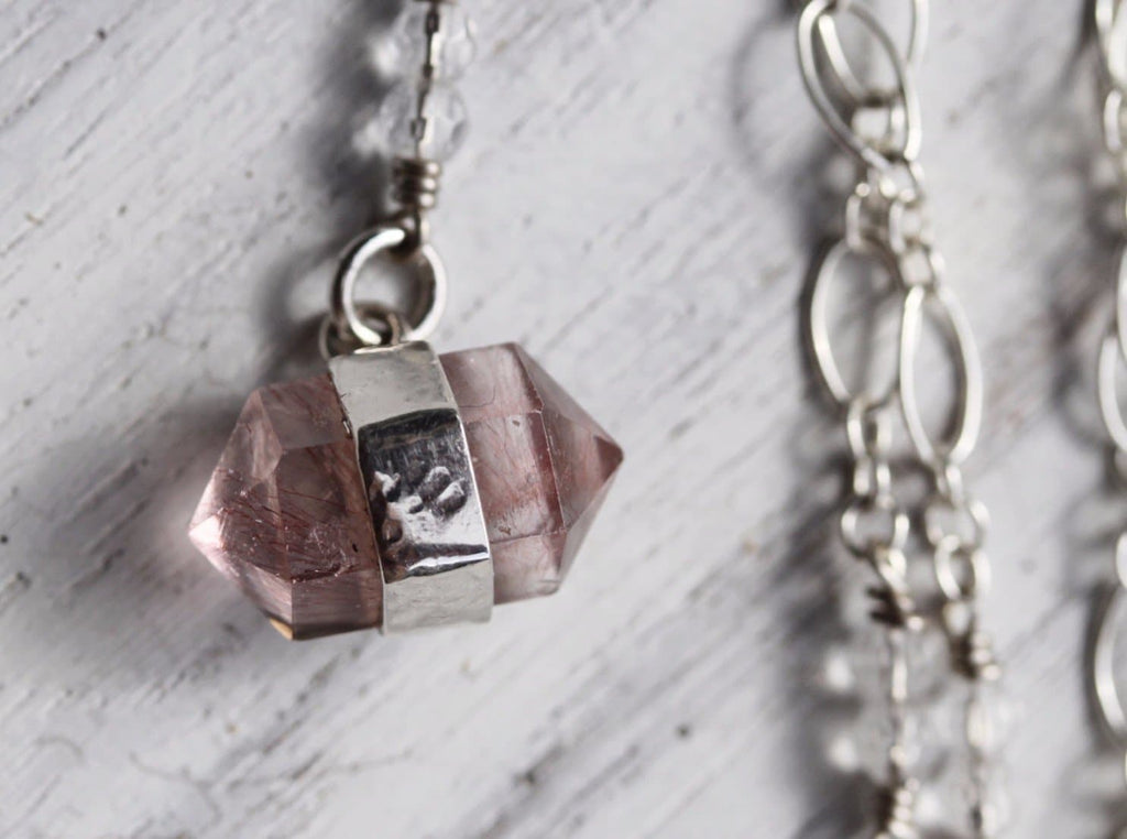 Rutilated Rose Quartz Choker