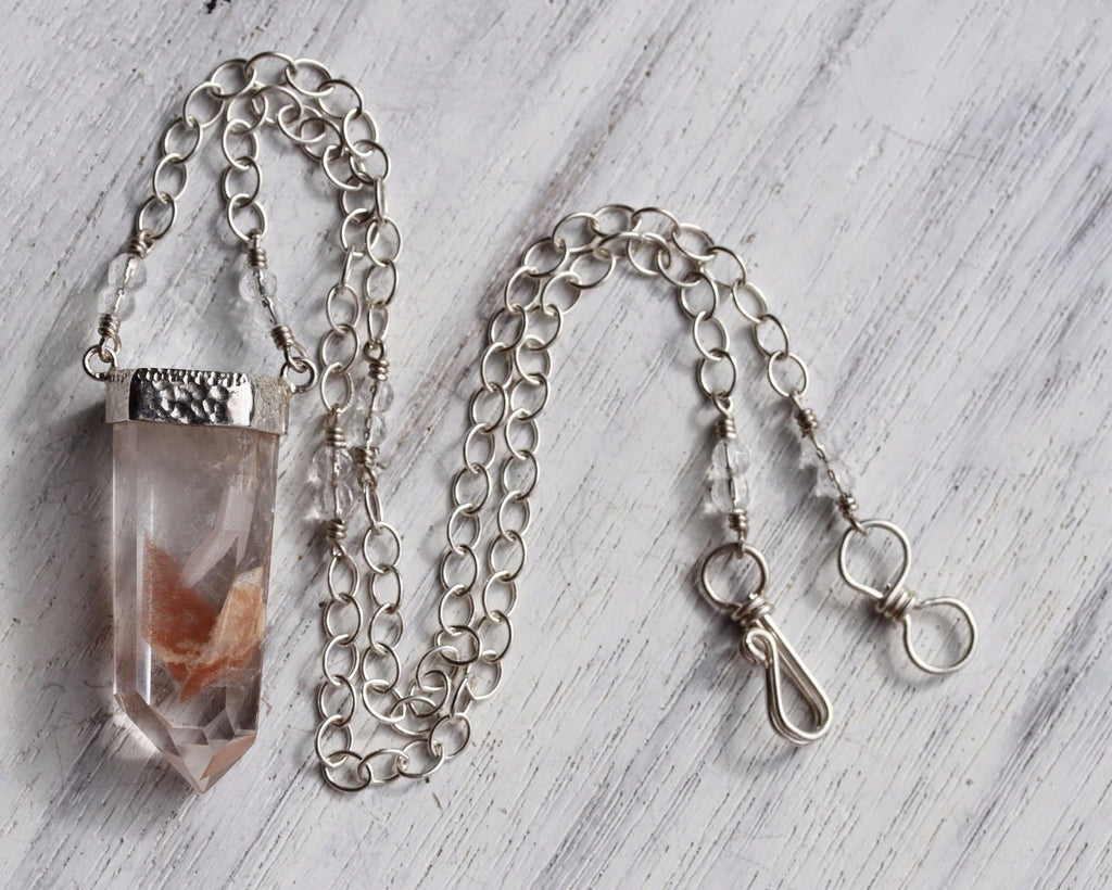 Silver Phantom Crystal Necklace