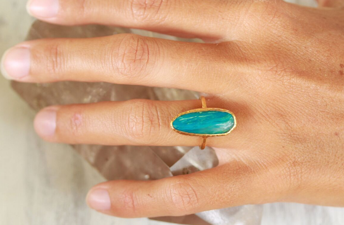 Chrysocolla Elfin Ring