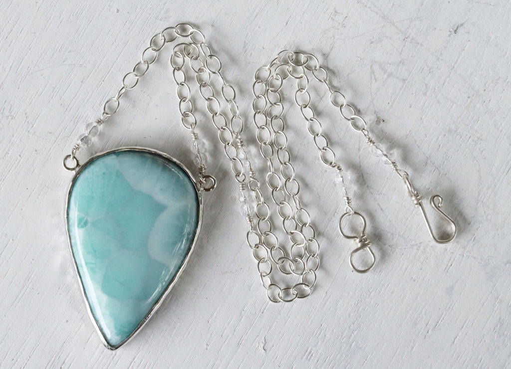 Silver Larimar Necklace