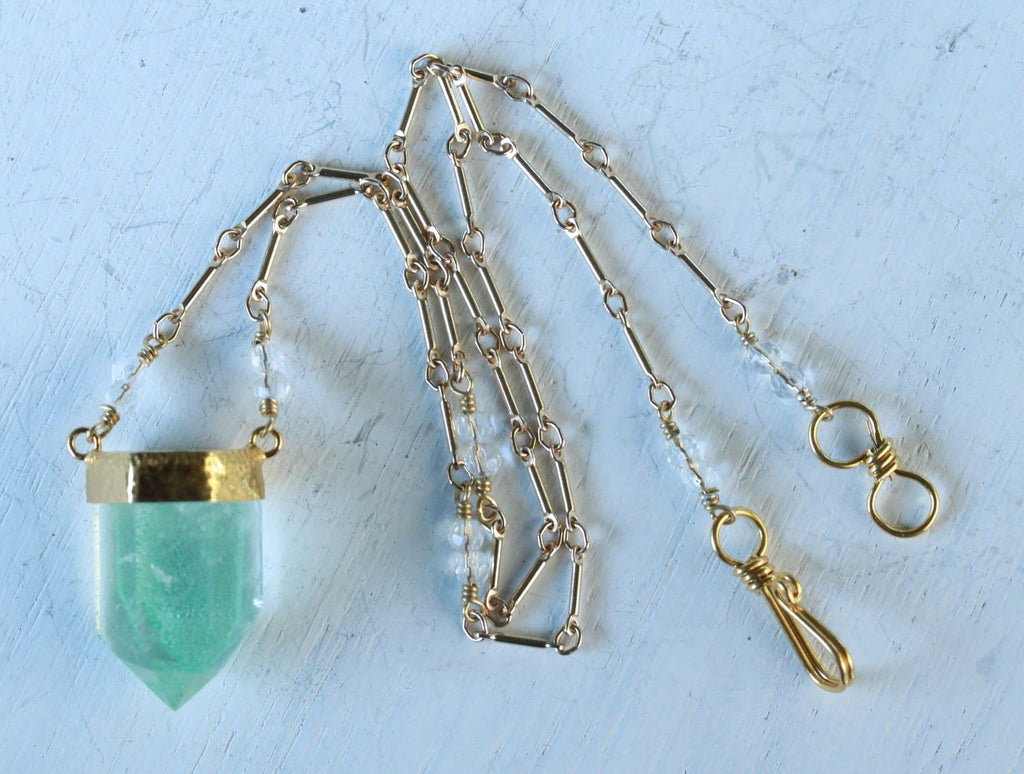 Gold Chlorite Wand Necklace