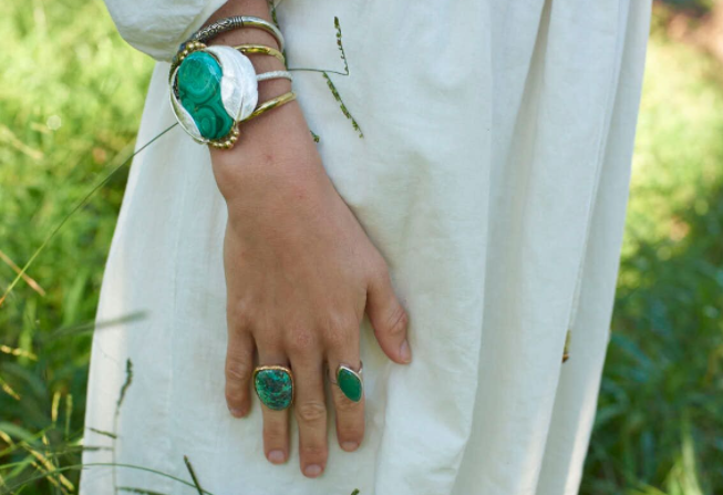 Chrysoprase Elfin Ring
