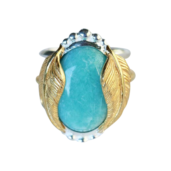 Kinship Ring :: Amazonite