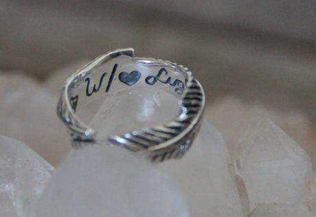 Heart Light Feather Ring || view more colors