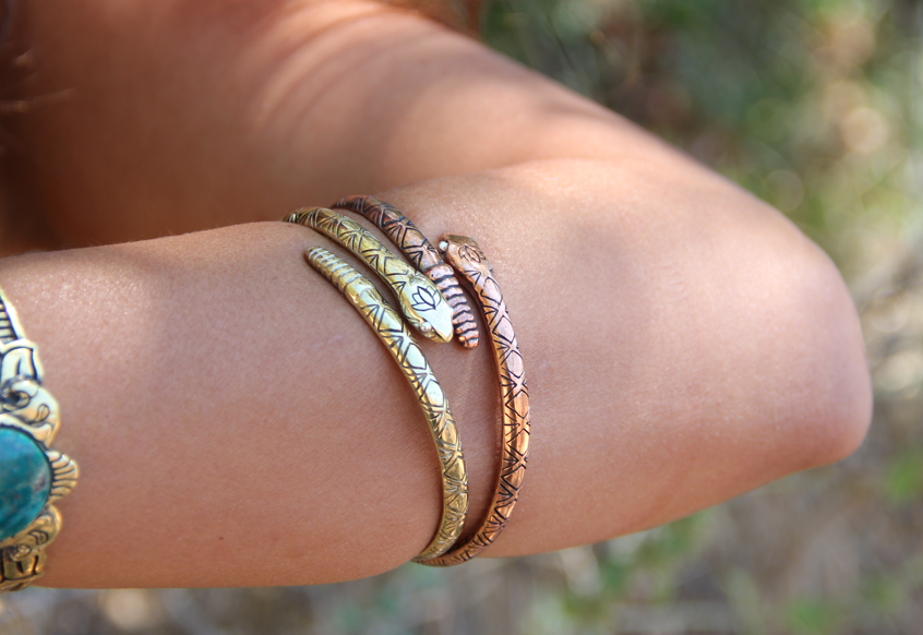 Rebirth Rattlesnake Lotus Cuff || view more colors