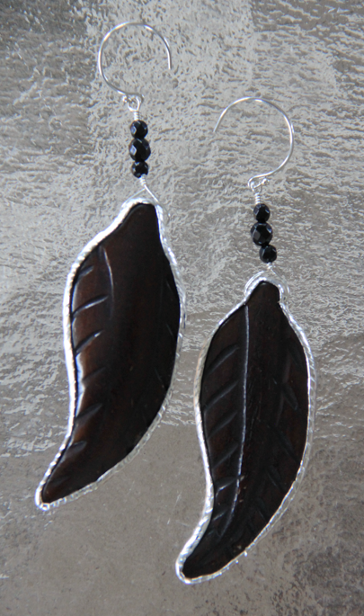 Dark Night Feather Earrings