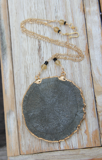 Pyrite Sun Necklace